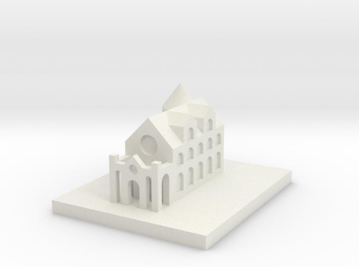 Miniature castle 3d printed