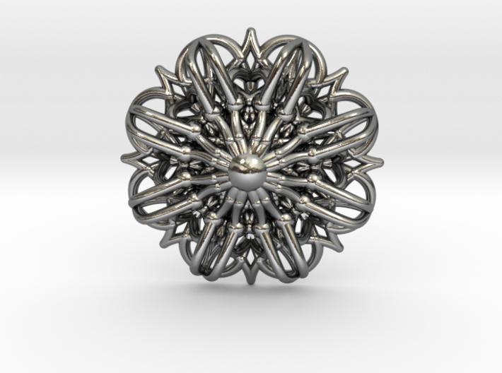 Mandala Stardust Pendant  3d printed