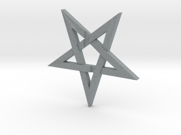 LaVey's Sigil Star Ornament (Part 1 of 2) 3d printed