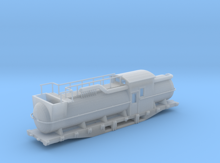 Snow Melter Tank Car Z Scale 3d printed Snow Melter tank Car z scale