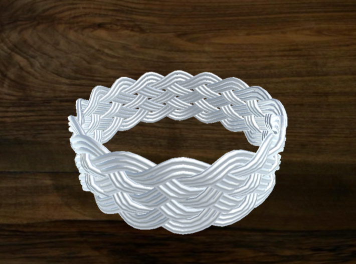 Turk's Head Knot Ring 6 Part X 16 Bight - Size 26. 3d printed