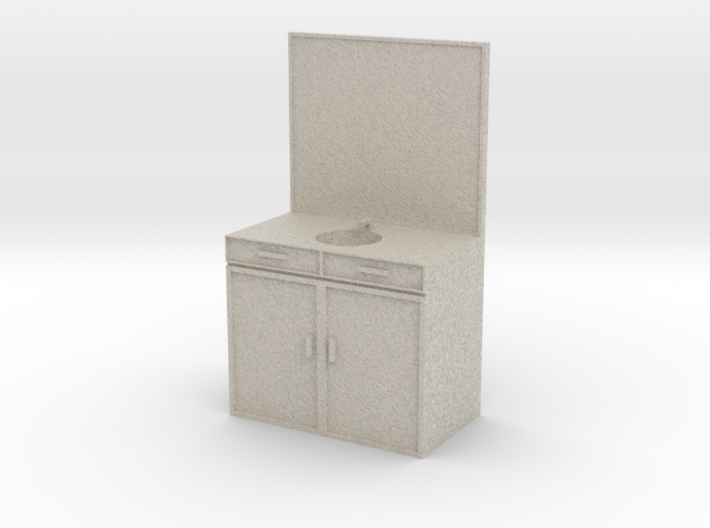 Mini Sink/Vanity for a Mini Bathroom 3d printed