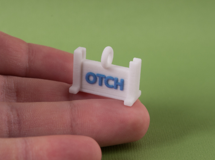 Obedience High Jump OTCH Title Pendant 3d printed
