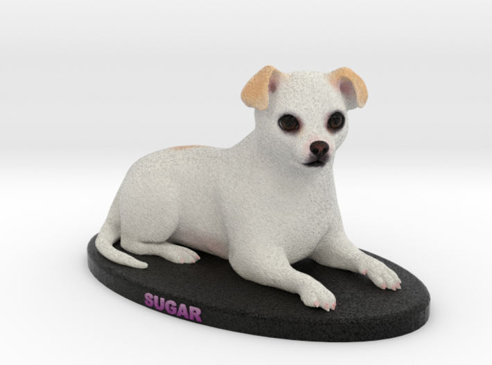 Custom Dog Figurine - Sugar 3d printed