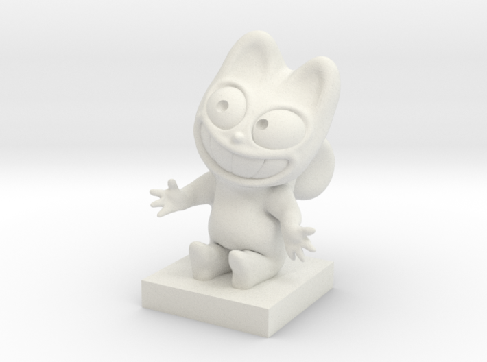 The Pink Cat, Le Chat Rose, N°2 3d printed