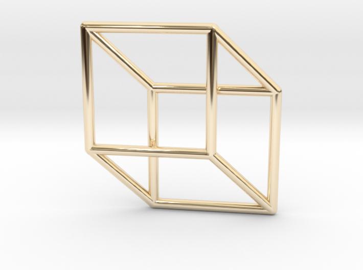 3d 2d Cube Fixed 3d printed