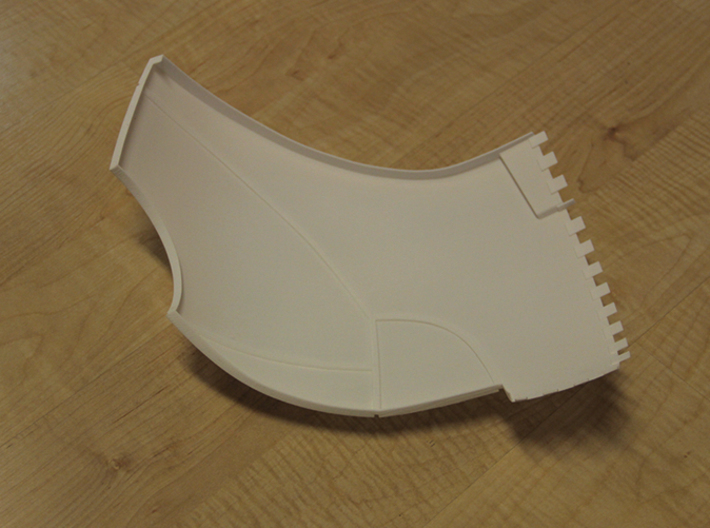 Iron Man Pelvis Armor, Back Right (Part 4 of 5) 3d printed Actual 3D Print (Inner Side)
