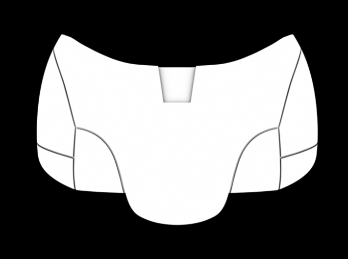 Iron Man Pelvis Armor, Bottom (Part 3 of 5) 3d printed CG Render (Back)