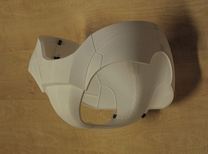 Iron Man Pelvis Armor, Bottom (Part 3 of 5) 3d printed Actual 3D Print (All parts combined)