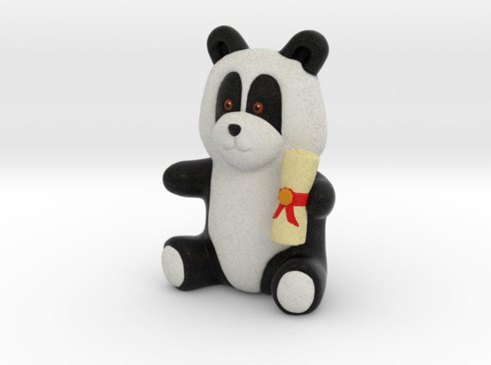 Graduation Panda (8cm) 3d printed