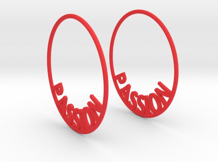 Custom Hoop Earrings - Passion 40mm 3d printed