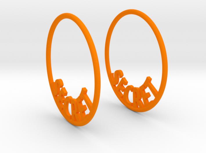 Custom Hoop Earrings - Secret 30mm 3d printed