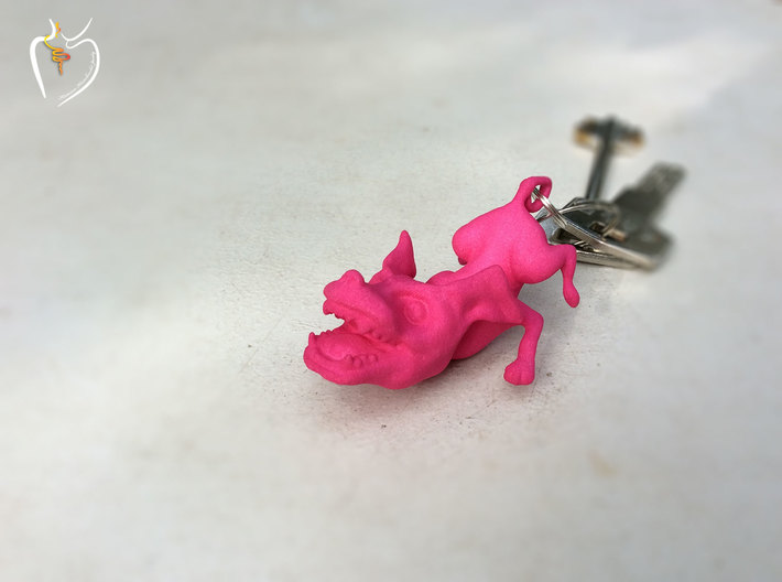 Flying Dog Pendant/Keychain 3d printed