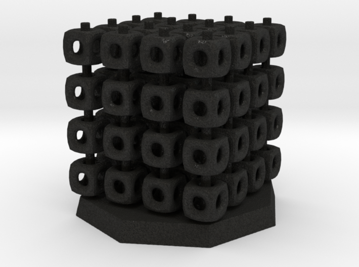 64 Board Game Piece and Stack-Cube Storage 3d printed