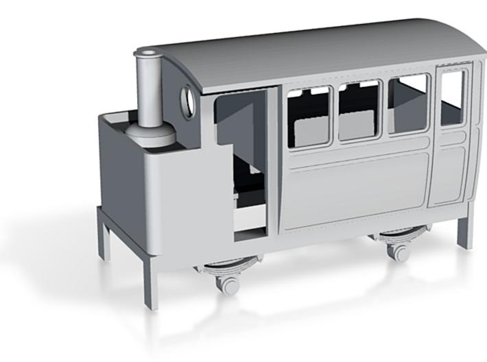 009 VB 4w steam railcar / inspection car 3d printed