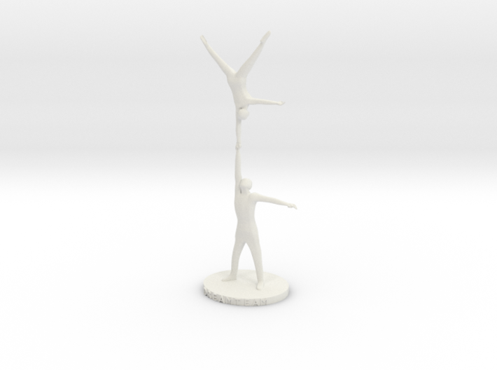 "acrobatic long one handed handstand ""DREAMTEAM"" 3d printed"