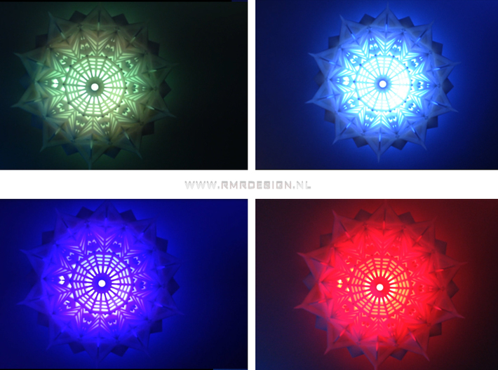 Bahai future world temple ceiling lamp 3d printed
