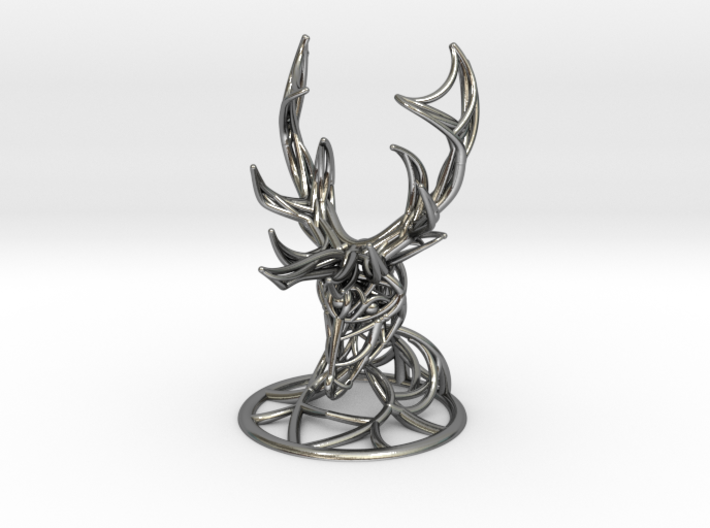 Deer Head With Stand 3d printed