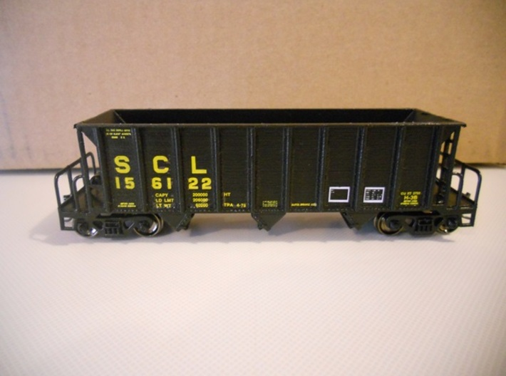 HO H-7-A/H-9 Hopper 3d printed Completed car done as a H-7-A