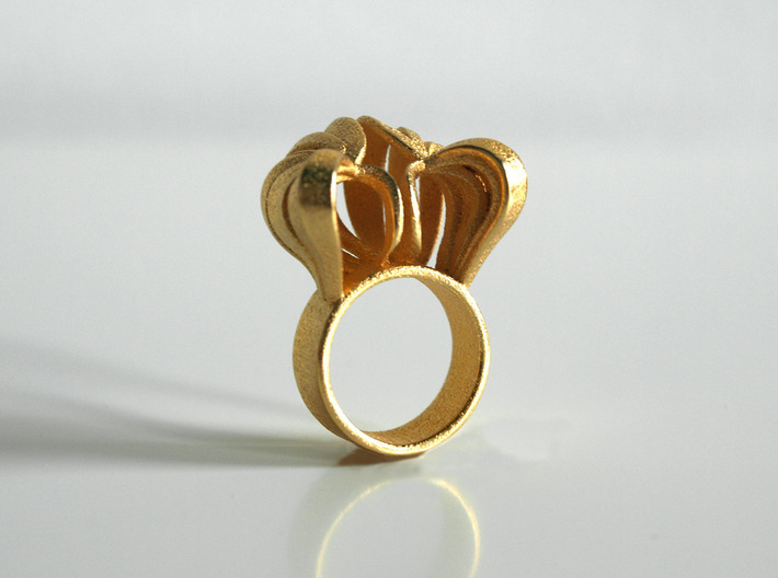 Pumpkin Ring Size 7 3d printed Gold