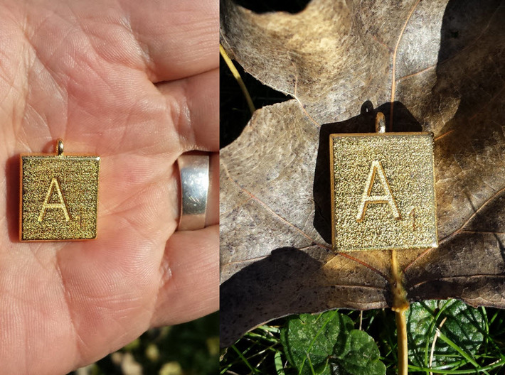 Scrabble Charm or Pendant-A 3d printed Just the right size and weight