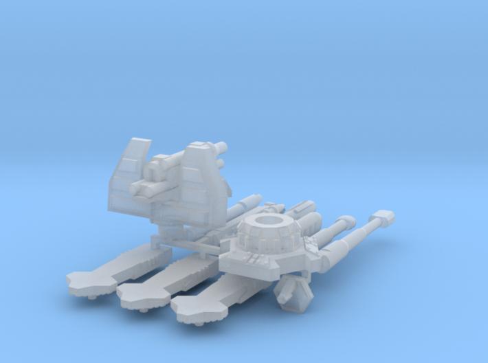15mm Sci-Fi Antitank Gun (with 6 Barrel Options!) 3d printed