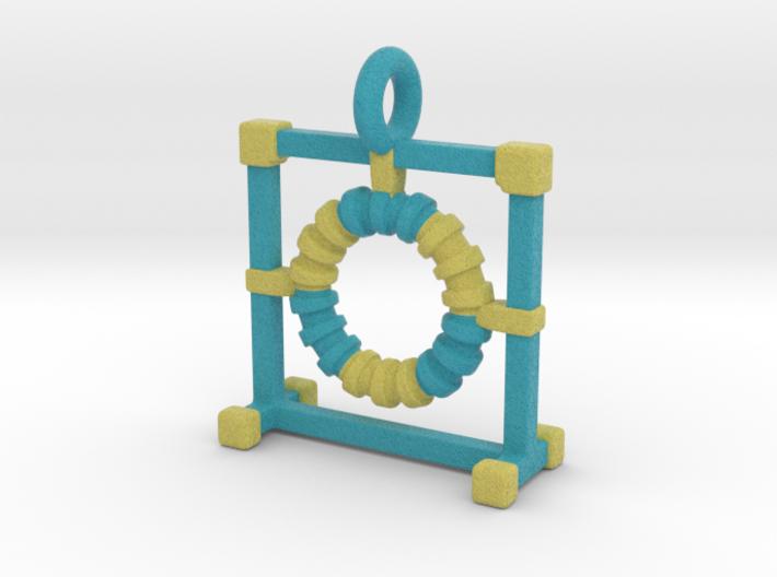 Agility Tire Pendant (Blue Version) 3d printed