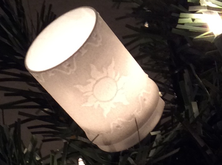 Rapunzel Lantern Christmas Light Cover 3d printed