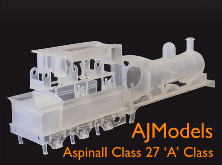 AJModels P03A L&Y A Class 27 for Bachmann Chassis 3d printed Frosted Ultra Detail test print