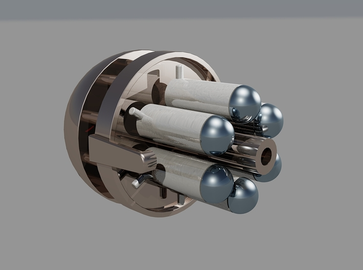 Steampunk miniature Gun Barrel 'Fixed Version' 3d printed A 2nd version will be available at a later date once parts have been tested, view Inside the barrel
