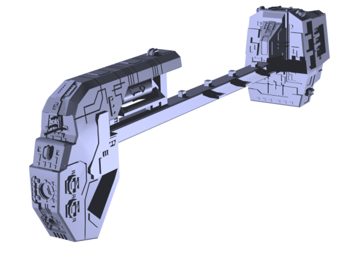 "Somtaaw ""Explorer"" Command Ship 3d printed"