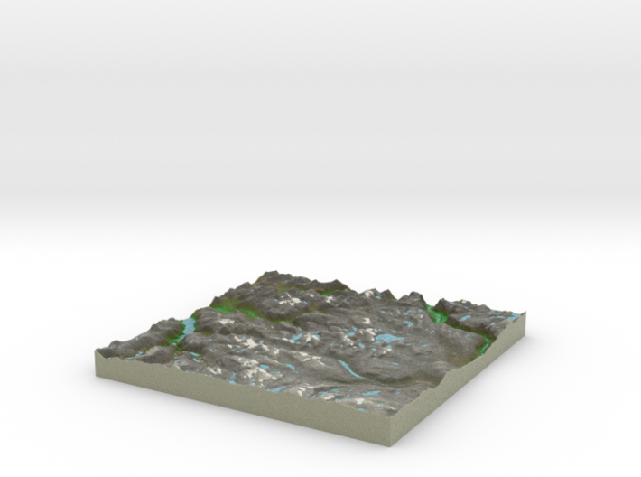 Terrafab generated model Mon Oct 06 2014 10:03:29  3d printed