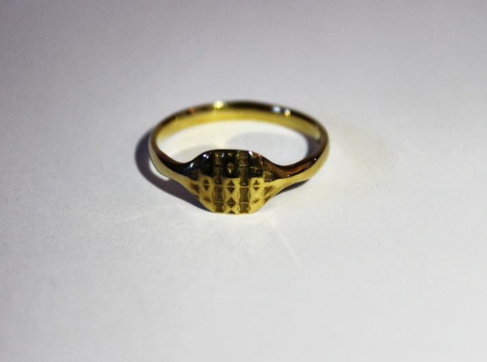 Triss Ring US Size 8 5/8 UK Size R 3d printed Gold Plated Brass