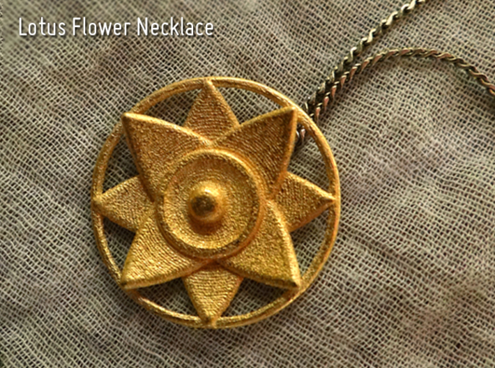 Lotus Flower Necklace 3d printed