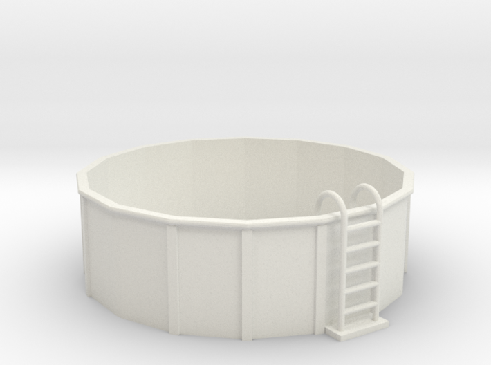 O-Scale 12-Foot Swimming Pool 3d printed