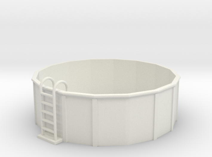S-Scale 12-Foot Swimming Pool 3d printed