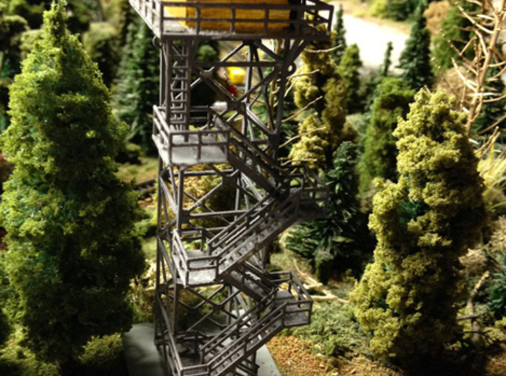 Forestry Tower Z Scale 3d printed 76' Tower Painted