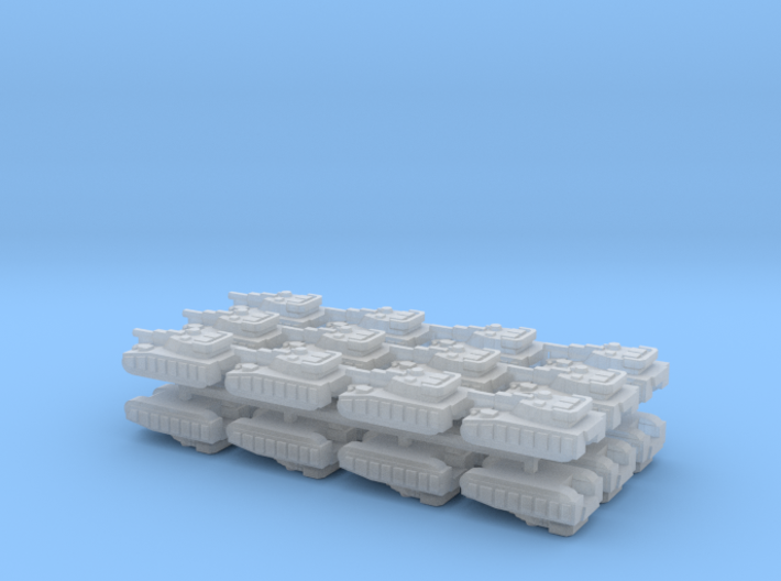 """Team Sabre"" 3mm Tracked Main Battle Tanks (24pcs) 3d printed"