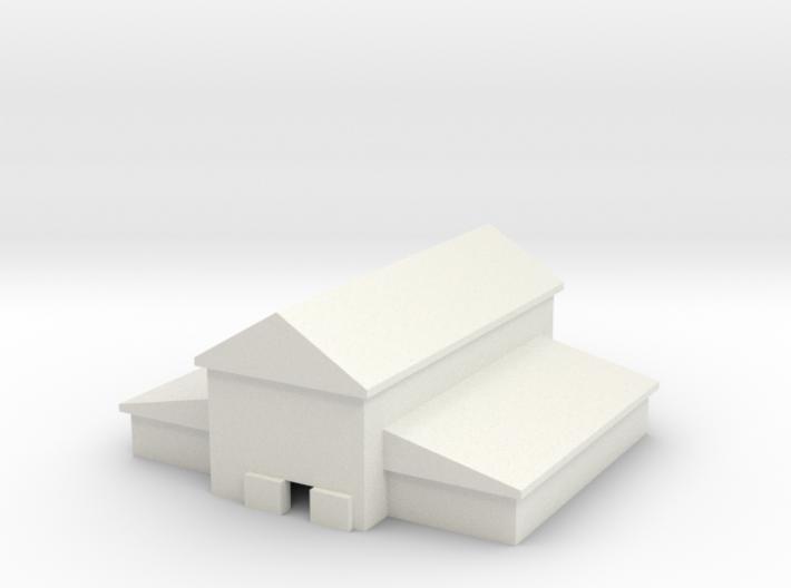 1/600 Large Barn 3d printed