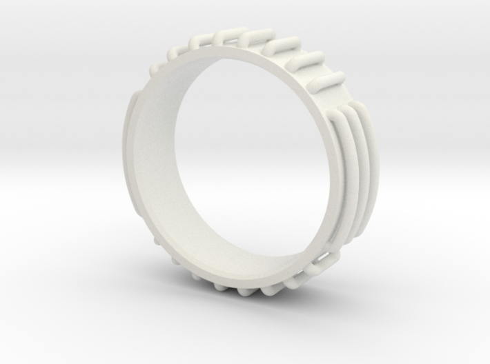 Sci-fi Ring Concept Size 10 3d printed