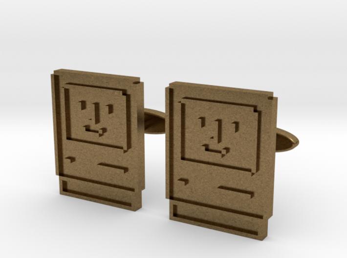 Happy Computer Cufflinks 3d printed