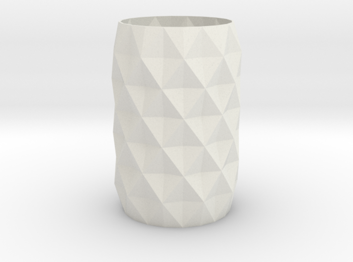 Stylish Faceted Designer Vase - 120mm Tall 3d printed