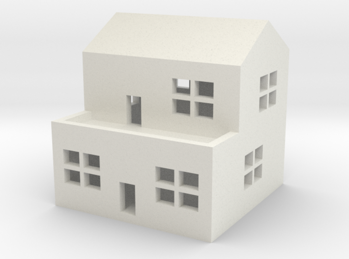 1/600 Town House 2 3d printed