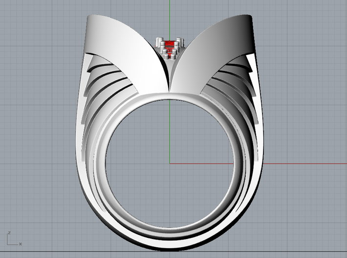 Dark Angel Ring - Size 12 (21.49 mm) 3d printed