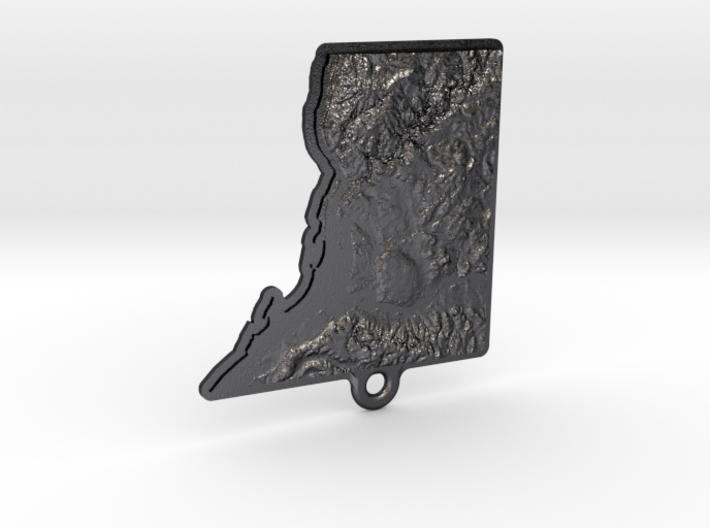 Washington DC topographic key fob 3d printed