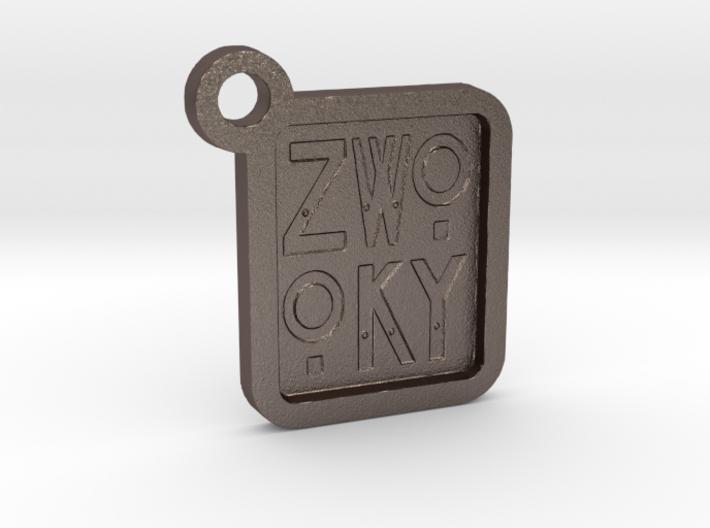 ZWOOKY Keyring LOGO 12 3cm 3mm negative 3d printed