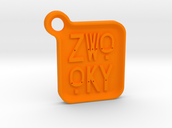 ZWOOKY Keyring LOGO 14 4cm 5mm rounded 3d printed