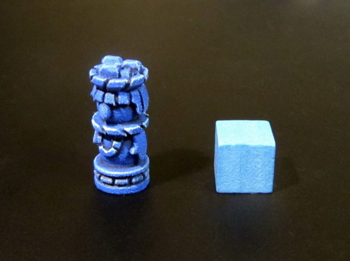 Mayan Worker Tokens (24-30 pcs) 3d printed Hand-painted token. 10mm cube for scale.