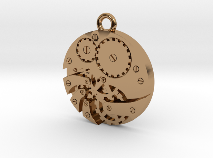 Watch Movement Steampunk Charm/Pendant 3d printed