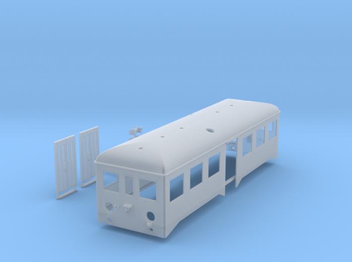 Caisse remorque autorail complète 3d printed